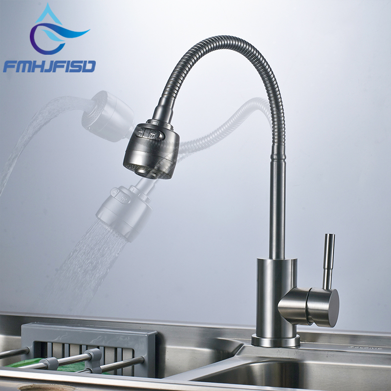 360 Degree Rotate Faucet Dual Outlet Water Sprayer Taps Pull Down Spring Faucet Mixer Tap Free Shipping