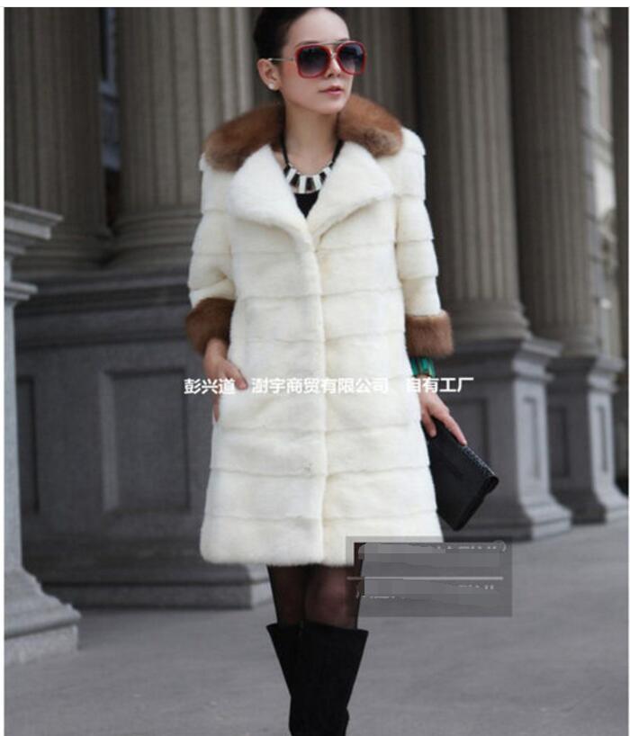 Haut Manteau Femmes Automne D'hiver Imitation 2017 Section Longue Mode De Gamme Et Fourrure Tempérament Des Nouvelle 6UxXwpB