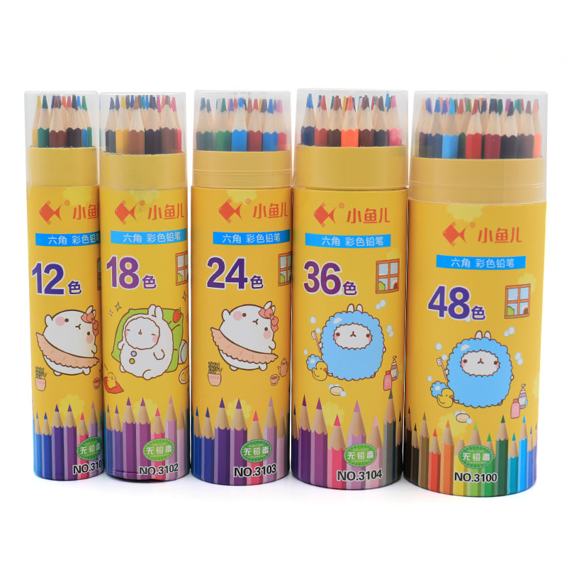Colored Pencil Set Stationery for School Supplies 12/18/24/36/48 Colors Pencil Artist Painting Drawing Apices Colores 3101 colors pencil 48 paint brush 2 pencil sharpener 1 professional oily colores watercolor pencil set art painting supplies