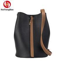 Women's Bag Colour Bucket Bag Fashion Shoulder Satchel Simple PU Leather Women Leather Handbags Bags for Women 2018 цены