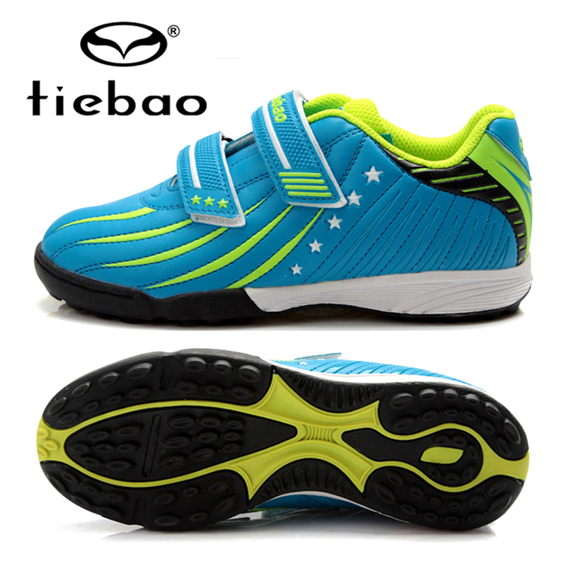TIEBAO Brand Kids Soccer Shoes TF Soles Hard Court Futsal Outdoor Professional Boys Girls Sneakers Football Soccer Shoes stylish round neck sleeveless black drawstring ripped jumpsuit for women