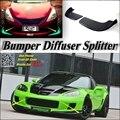 Car Splitter Diffuser Bumper Canard Lip For Chevrolet Corvette Tuning Body Kit / Front Deflector Car Flap Chin / Body Change