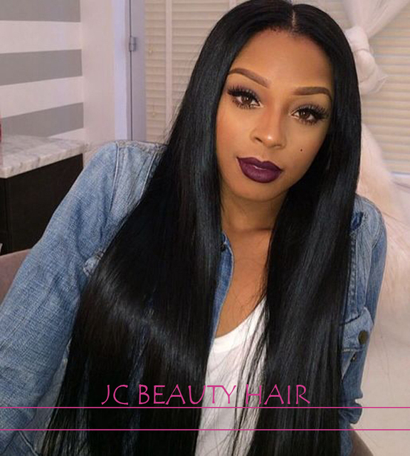Virgin Indian Remy Full Lace Wigs with Baby Hair Glueless Lace ...