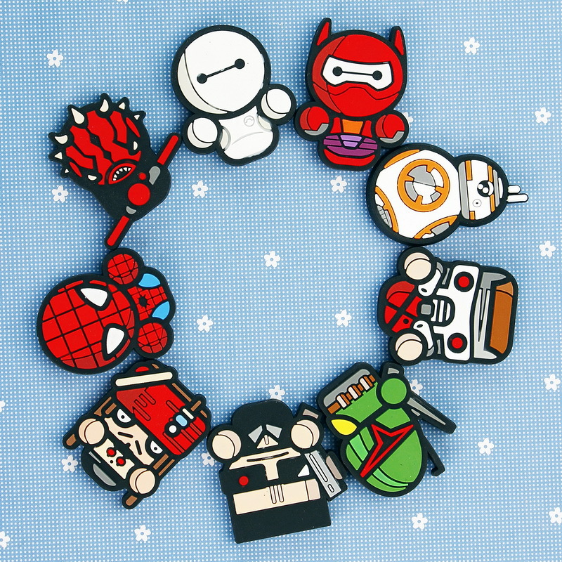 PVC Refrigerator Cartoon Soft Magnetic Marvel Heroes Creative Cute Decorative Souvenir Stickers