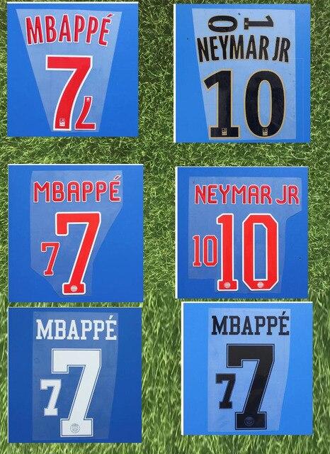 af045c583 2018-2019 Neymar JR Nameset MBAPPE DI MARIA VERRATTI T.SILVA CAVANI DRAXLER  KIMPEMBE