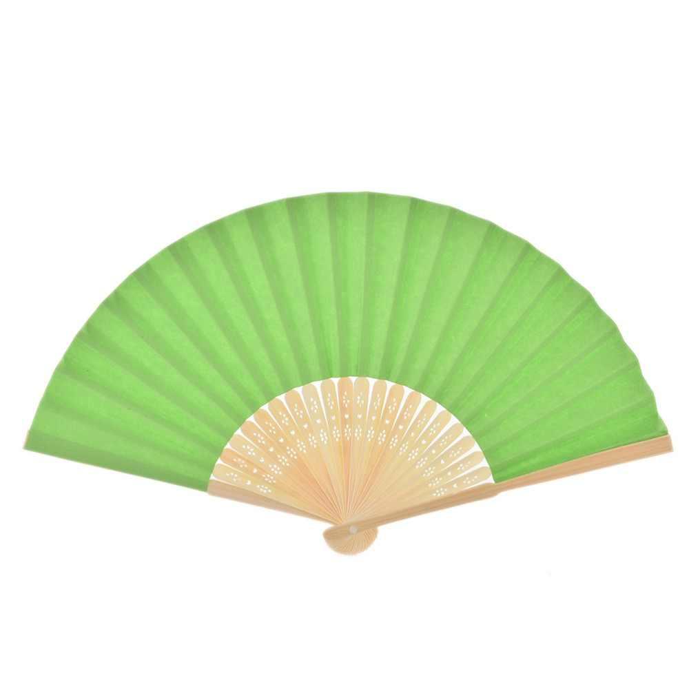 9 màu sắc 1 cái Mùa Hè Trung Quốc Giấy Tay Người Hâm Mộ Túi Gấp Bamboo Fan Đám Cưới Người Hâm Mộ Tay Gấp Trung Quốc Người Hâm Mộ