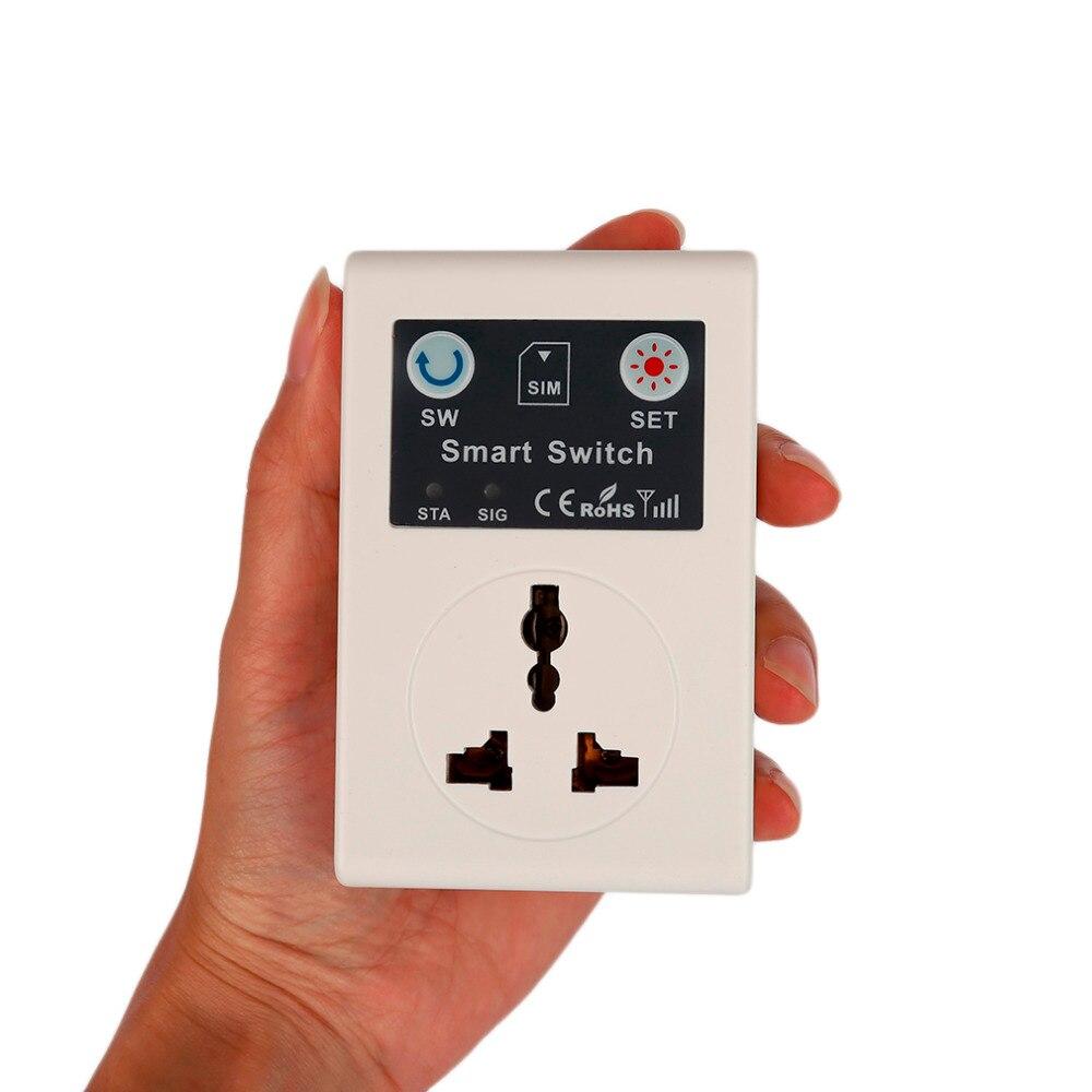 ЕС 220 В телефон RC удаленного Беспроводной Управление Smart Switch GSM гнездо телефона Мощность Plug бытовой техники прерыватель Настенные переключа...