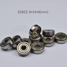 628zz rolamento 8*24*8(mm) 10 peças ABEC-5 rolamentos de metal rolamento selado 628 628z 628zz rolamento de aço cromado