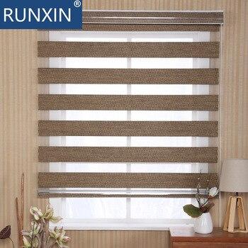 zebra blinds, rainbow blinds, manual zebra blinds