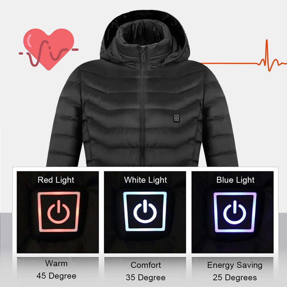 Открытый зимний жилет с подогревом для мужчин и женщин USB Электрический с капюшоном теплая одежда для катания на лыжах походные теплые куртки с подогревом