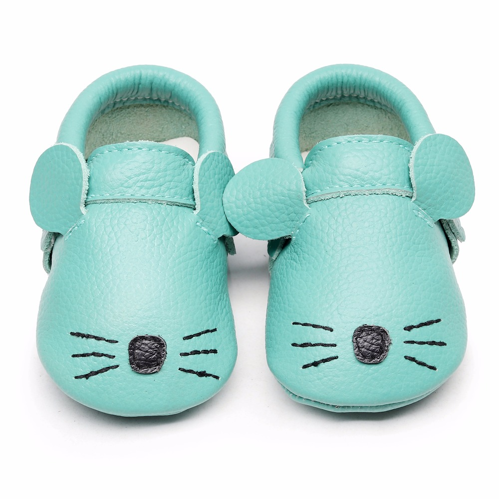 bf094501cc6f76 2018 New Fox Panda Animals Genuine Leather Baby moccasins First Walkers Soft  Sole Baby girl shoes infant Fringe Shoes 0 24month-in First Walkers from  Mother ...