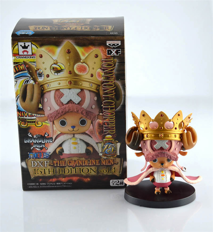 11cm Anime One Piece Chopper with Crown PVC Action Figure Model Tony Toy Chopper Box Package Brinquedos Gift