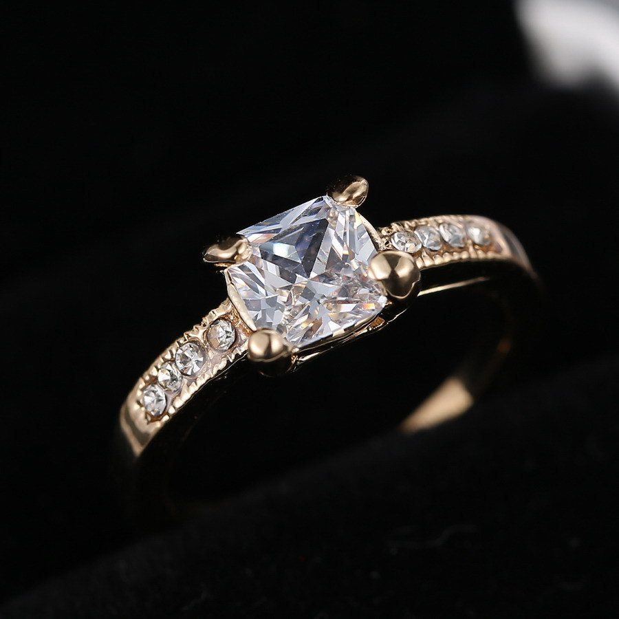 Rinhoo Bride Jewelry Antique Rings fashion gold Wedding Rings For women couple gifts
