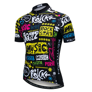 Image 1 - 2019 Cycling Jersey Mens Bike Jerseys Bicycle Tops pro Team Ropa Ciclismo mtb Mountain Shirt cycle jersey breathable colorful