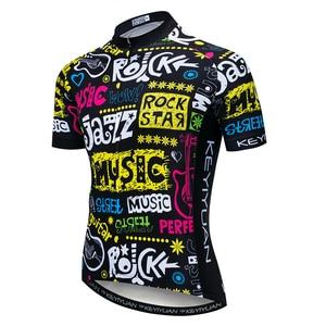 Image 1 - 2019 radfahren Jersey männer Bike Trikots Fahrrad Tops pro Team Ropa Ciclismo mtb Berg Shirt zyklus jersey atmungs bunten