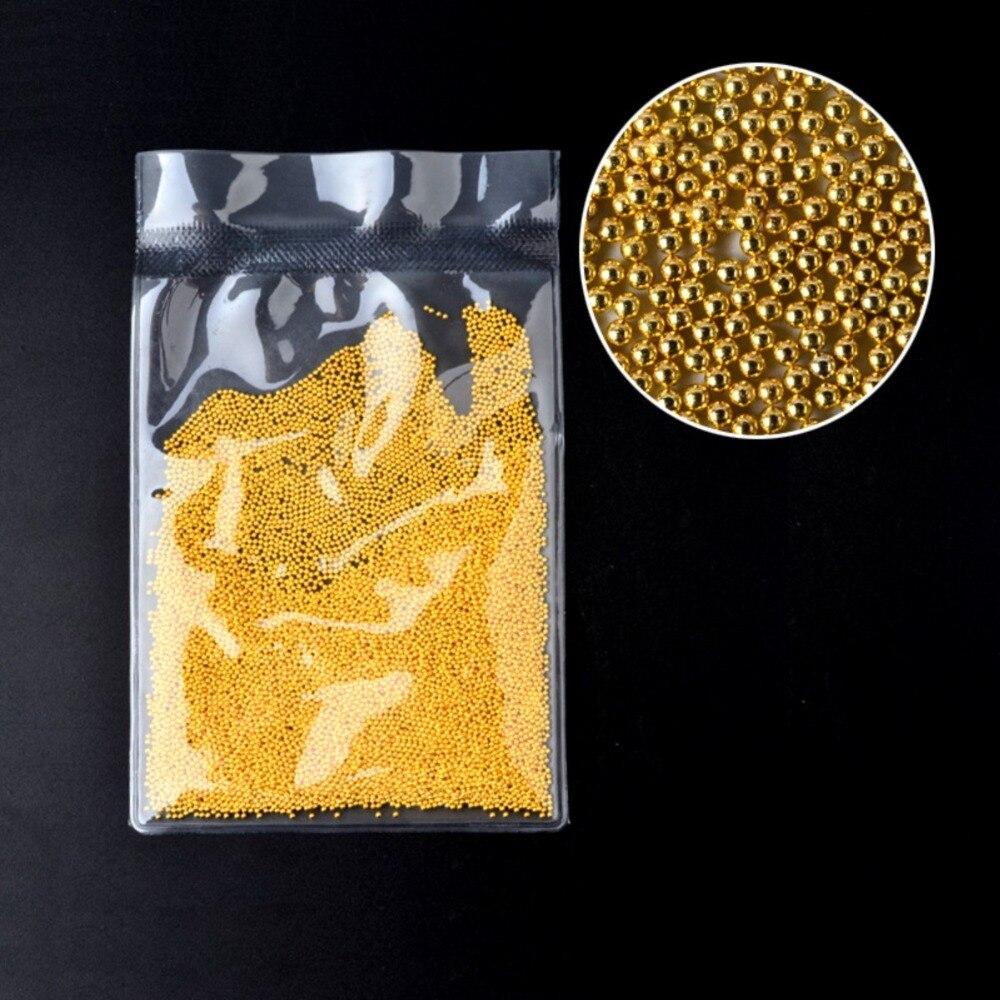DIY Nail Art Decoration Gold &Silver Steel Mini Beads Balls 100g Metal Stud Rivets Nail Art 3D Tips Glitter Caviar for Manicure mini caviar metal beads 10g gold silver nickel nail art charm fashion pearl steel ball nail art diy decorations