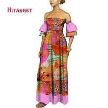 African Dresses for Woman tube top dress danshiki women african traditional clothing Customized  WY3809