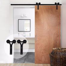 LWZH Heavy Duty drzwi przesuwne nowoczesne drewniane drzwi przesuwne zestaw narzędzi czarny wałek w kształcie litery Y do 11FT 12FT pojedyncze drzwi