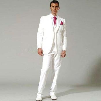 0a30f46bfd05 Wuzhiyi último abrigo pantalones diseños blanco trajes de boda para hombres  traje esmoquin para hombres hecho a medida terno slim fit Formal de ...