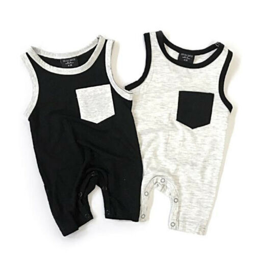 Emmababy Newborn Baby Girl Boy Pocket Patchwork Cowmooflage Oreo-color   Romper   Sunsuit Jumpsuit Outfit Cloth 0-24M