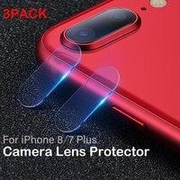 Ascromy 3PCS Für iPhone 7 Plus Hinten Gehärtetem Glas Zurück Kamera Objektiv Protector Film Abdeckung Für iPhone XS Max X XR 8 6 6S pelicula