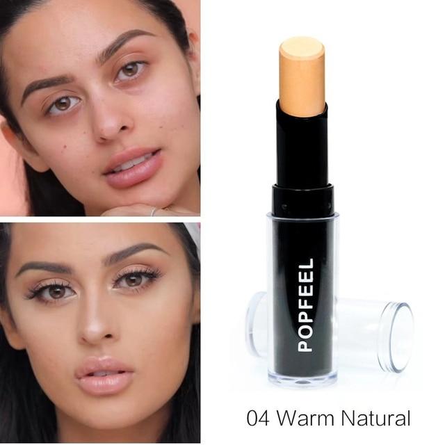 Makeup Base Eye Concealer Cream Stick Makeup Brighten Shadow Waterproof Cover Dark Circle Comestic Long-Lasting Natural 4 Color 5