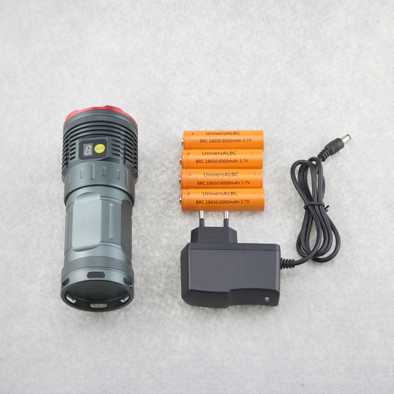 BCMXJVH 28000LM 15T6 Taitcal LCD Display Intelligent Flashlight 15x Cree T6 Led Hunting Camping Torch Light With 18650 Battery ...