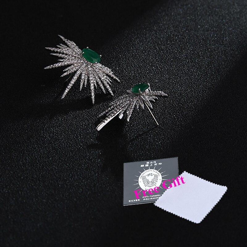 Novi prihodi uhani za ženske temperament beli cirkoni okrasnih - Modni nakit - Fotografija 3