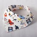 Baberos de bebé de Alta calidad de Personaje de Dibujos Animados de Animales de Impresión bebé baberos del bandana del triángulo doble capas de algodón bebé toalla bufanda