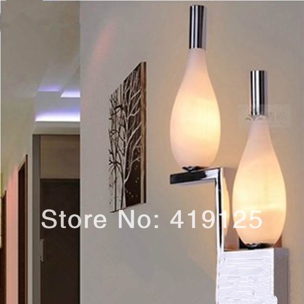 Free shipping Led living room wall lamp modern brief ofhead lamps bottle lamp 1276 modern brief fashion ofhead lamps table lamp