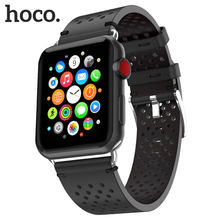 HOCO Breathable Genuine Leather Band for Apple Watch Series 4 3 2 1 Watchband iWatch Bracelet 42/44mm Wristwatch Belt Strap