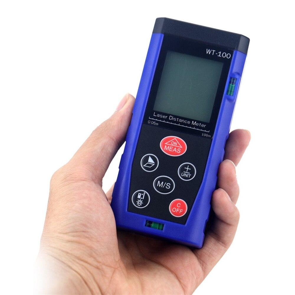 WT-40/60/80/100 Handheld Digital Laser Range Finder  Distance Meter Diastimeter Rangefinder Measure Test Tool for Construction  цены