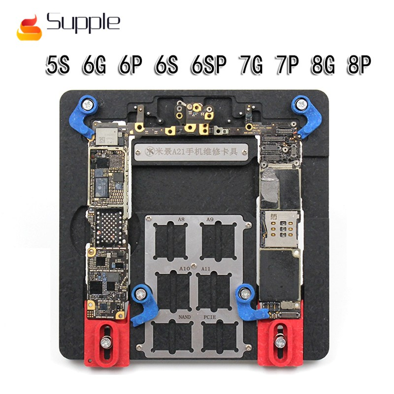 цена Supple new multi-purpose MJ A21 mobile phone motherboard fixture maintenance fixture for ipnone 5S/6/6P/6S/6SP/7/7P/8/8P IPAD