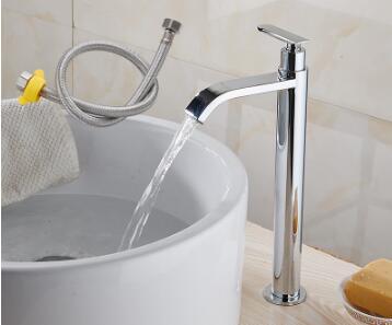 Tuqiu смеситель для раковины Одноместный холодный кран для ванной комнаты смеситель для раковины ванной комнаты высокий хромированный латунный кран для холодной воды - Цвет: style 6