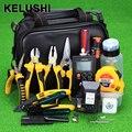 KELUSHI 30pcs/set Fiber Optic FTTH Tool Kit with10mW Visual Fault Lcator APM820 Optical Power Meter HS-30 Cleaver Tool pliers