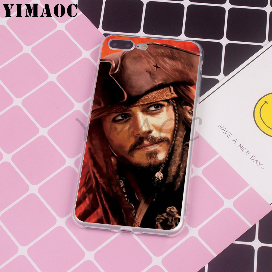 YIMAOC Caribbean Captain Jack Sparrow Soft Silicone Case for Apple iPhone 6 6S 7 8 Plus X 10 5 5S SE