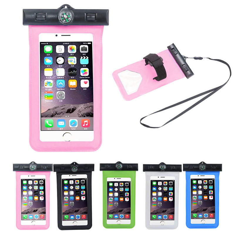 Top Quality Travel Swimming Waterproof Bag Case Cover For iPhone 5 5s 5c 6 6s Plus for 5.5 inch Cell Phone Free Shipping Suppion