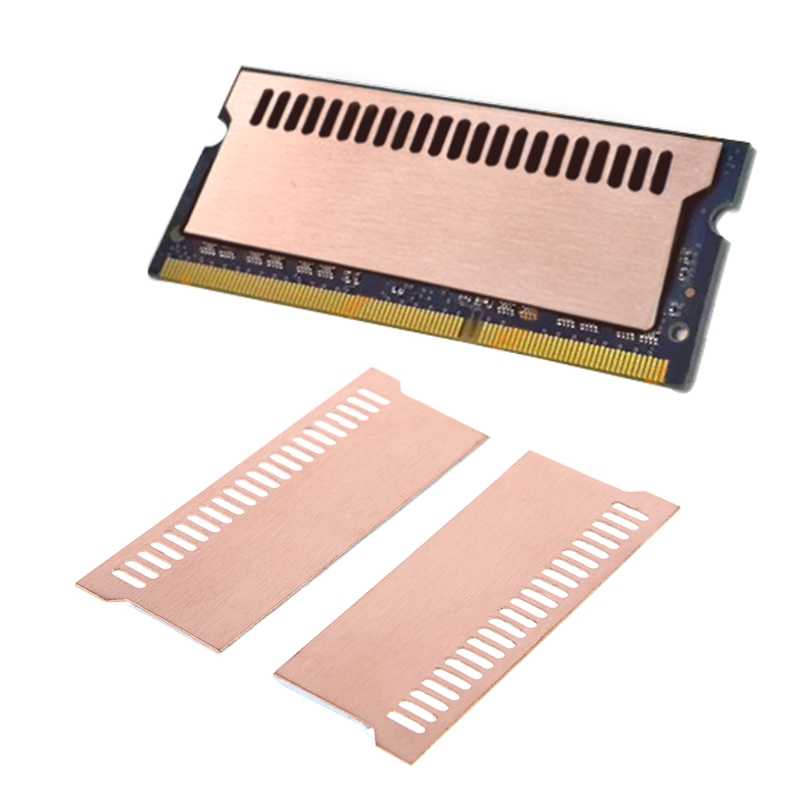 Pure Copper Notebook Gaming Laptop Memory Heatsink Cooling Vest 0.5mm Radiator