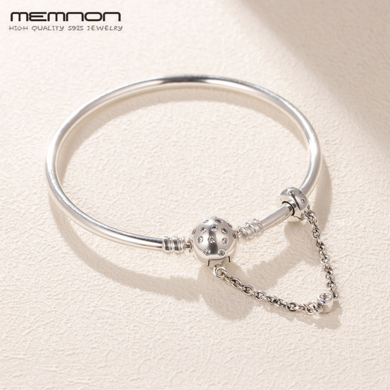 Original 925 Sterling Silver Moments True Uniqueness Clasp chain Bangles for women Fit Beads Charms DIY bracelets bangle Jewelry