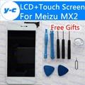 Pantalla lcd + pantalla táctil para meizu mx2 100% nuevo panel de cristal digitalizador pantalla lcd de pantalla para meizu mx2