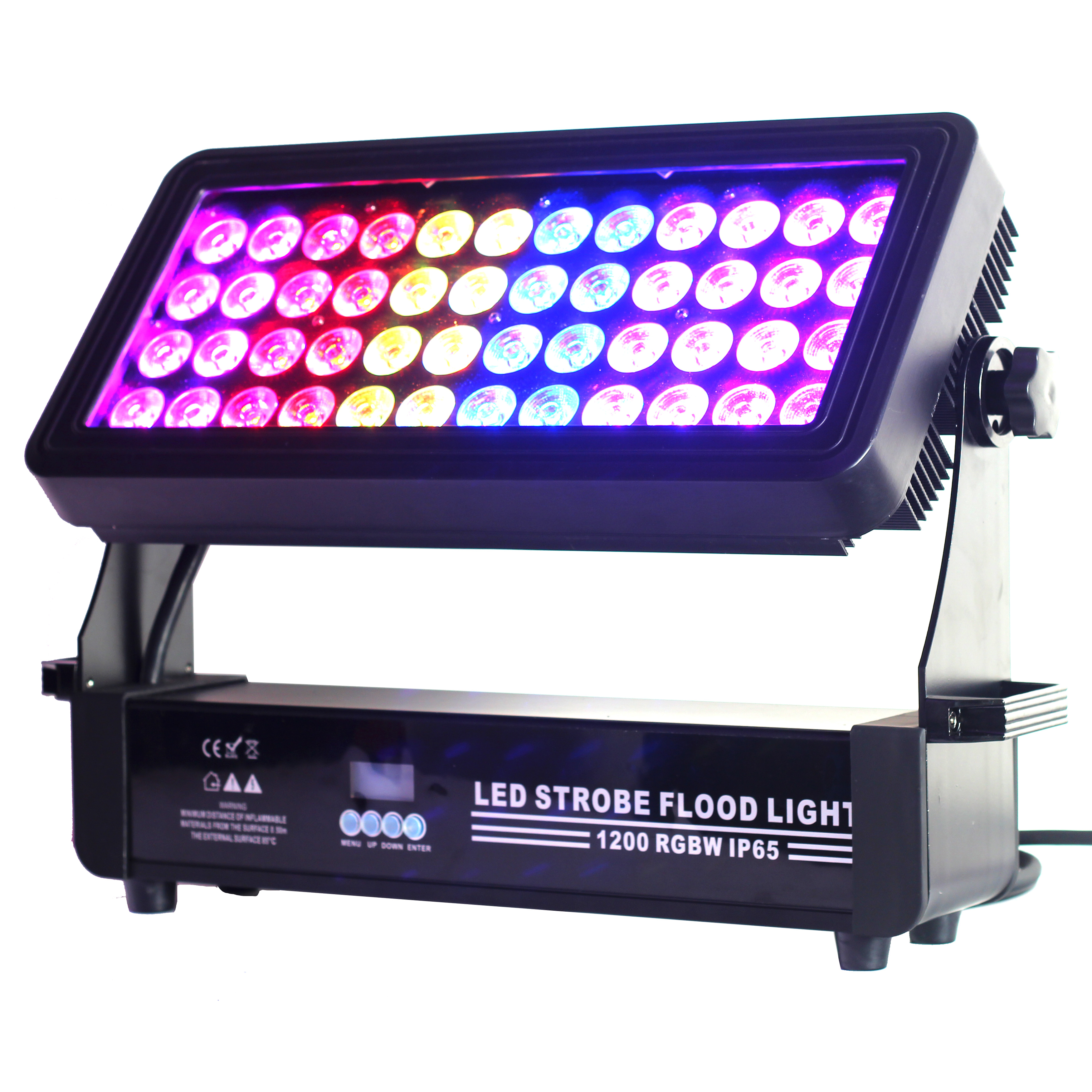 IP65 48x12W RGBW 4IN1 LED STROBE WALL WASH FLOOD LIGHT 6 Segments DMX LED Stage Flashing Outdoor City Color Light