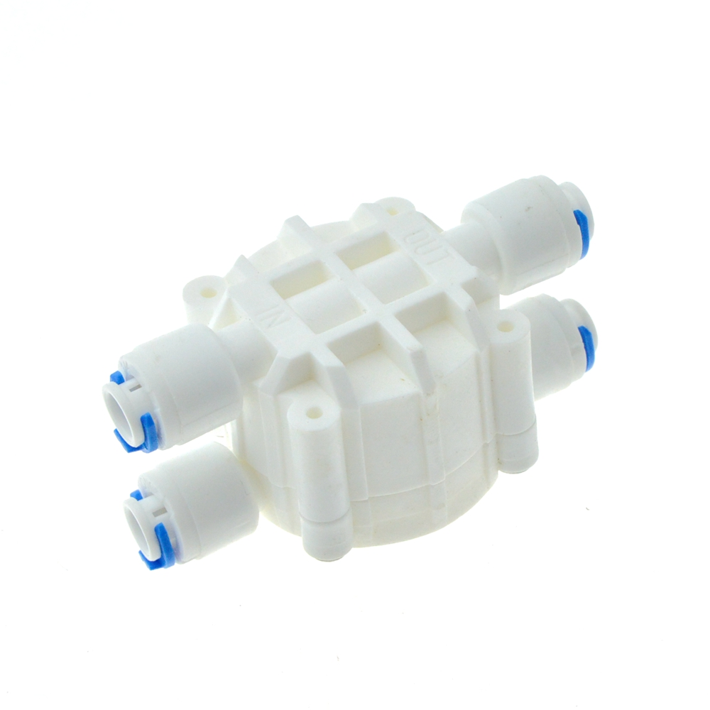 Reverse Osmosis RO 4 Way Valve 1/4 OD Hose Quick Connection Diaphragm Valve Fitting For Water purifier Pure Water Dispenser