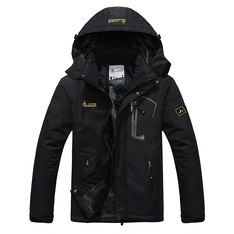 6XL новая зимняя куртка мужская модная парка верхняя одежда ветрозащитная непромокаемая с капюшоном Повседневная Толстая Теплая Бархатная ...
