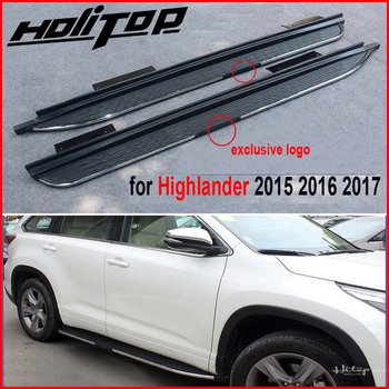 Hot side stap voetpedaal bar treeplank voor Toyota Highlander Kluger 2015-2018, populaire model in China, 5 jaar oud leverancier
