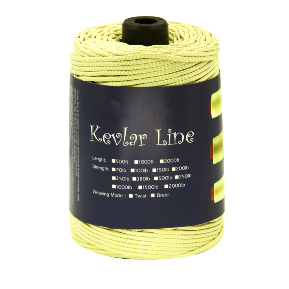 Fishing Line 2.8mm Braided Kevlar Line for Outdoor Tactical Backpacking Camping Tent Cord 300ft 1500lb Draging Haulling Rope 500ft 152m 1000lb kevlar line braided fishing line super strong rope cord for camping hiking survival binding haulling winch