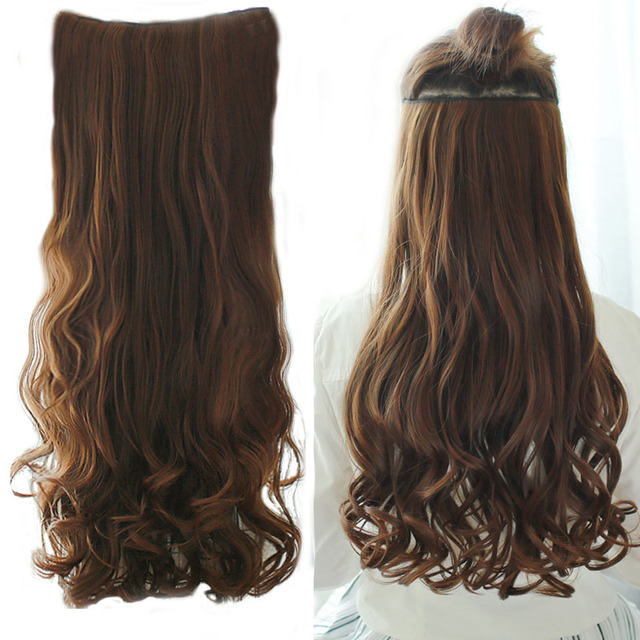 Long Wavy Heat Resistant Synthetic Hair Pieces