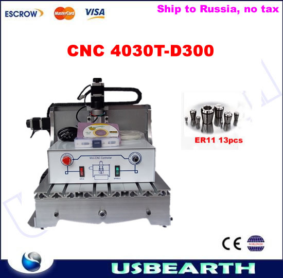 Mini cnc router 3040, 300W spindle cnc engraving machine+free collets,No tax to Russia массажер простаты california exotic novelties silicone prostate locater черный