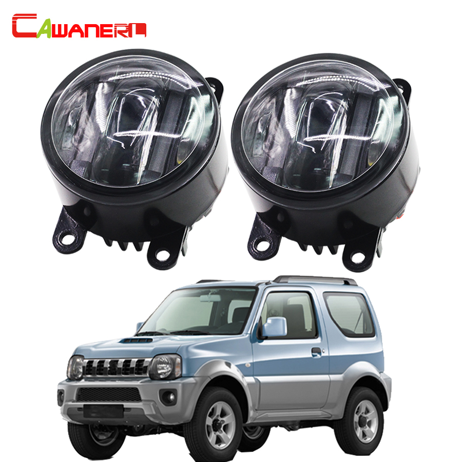 Cawanerl 1 Pair Car LED Light Source Right + Left Fog Light Daytime Running Lamp DRL For Suzuki Jimny FJ 1998-2014 cawanerl 1 pair car styling led light fog lamp daytime running light drl dc 12v for suzuki alto grand vitara jimny sx4 splash