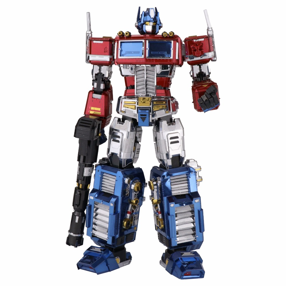 MU 3D Metal Puzzle TF Optimus Prime G1 DIY Laser Cut puzzles Jigsaw Model For Adult kids Educational Toys Desktop decoration colorful god of war returns 3d metal puzzles model for adult kids manual jigsaw educational toys desktop display collection gift