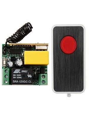 NUEVA AC220V 1CH RF Sistema de Interruptor de Control Remoto Transmisor 1X teles